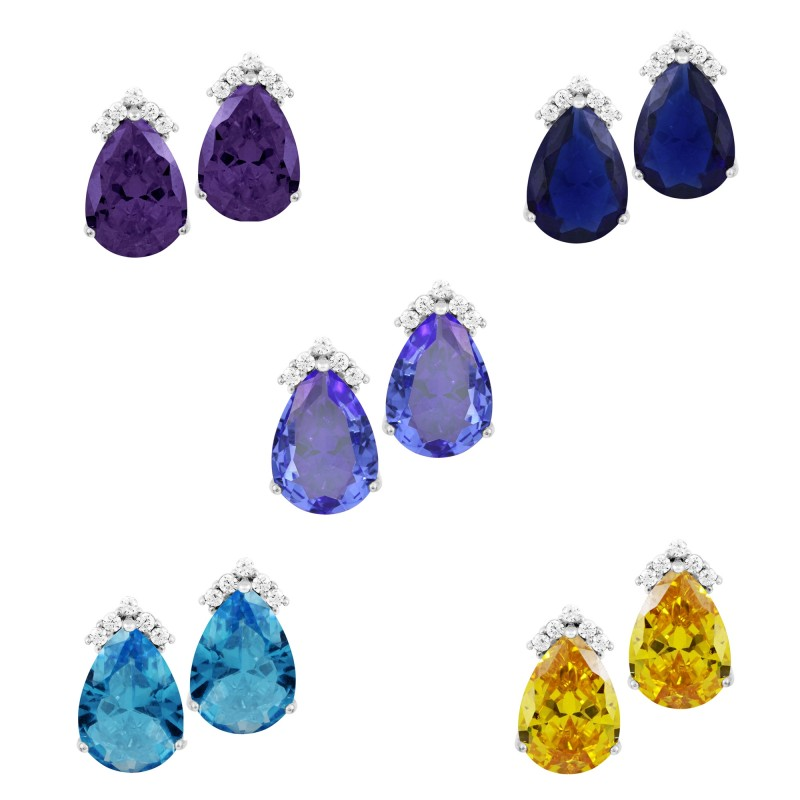 Stunning 1.5 Carat Pear Shaped Topaz Stud Earrings promotion 3 for $100 normal price $60.00 value each