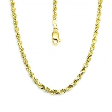14 Karat Solid Yellow Gold Rope Chain