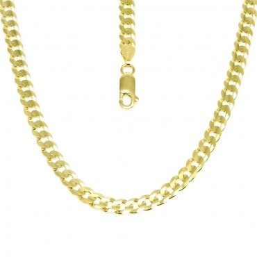 14 Karat Solid Yellow Gold Cuban Link Chain