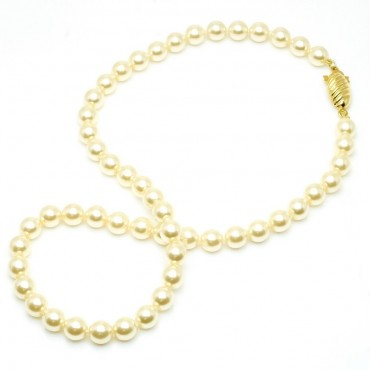 Genuine Mallora Peal Necklace $1.50 and inch comeis in 16 inch 18 inch 20 inch 24 inch and 30 inch